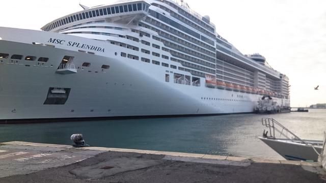 乗船した大型客船「MSCスプレンディダ号」
