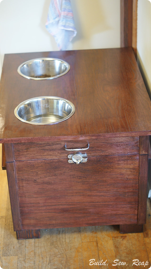 Raised Dog Feeder and Kibble Storage