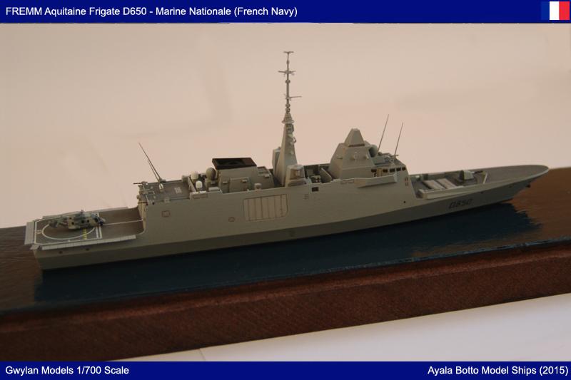 FREMM Aquitaine D650 Frégate ASM - Gwylan Models 1/700 par Ayala Botto 22390349914_a0f67bc047_o