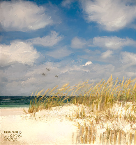 Corel Painter image of Pensacola Beach, Florida