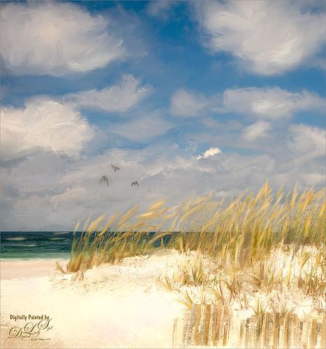 Corel Painter image of Pensacola Beach, Florida