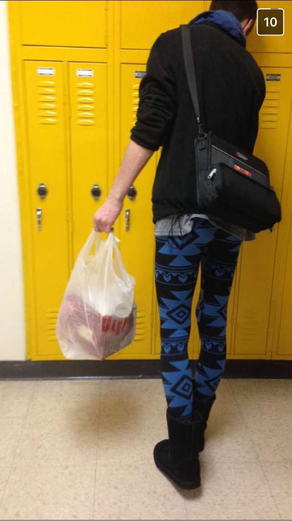 leggings to school high school boy wearing leggings and