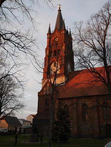 St.-Moritz-Kirche in der Abendsonne