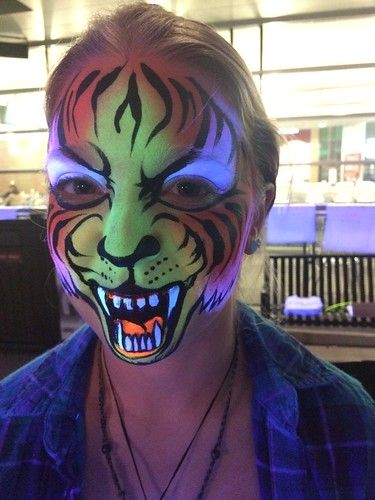 face paint uv tiger | by bodyartbykeegan