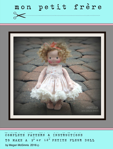 "PDF book to make Petit Fleur 9"" and 12"" dolls"
