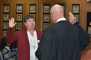 Trustee Wright takes Oath of Office 2017 | by Board Office - Trustee A