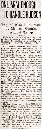 Lawrence J Casbon CA Hudson article Oct 1920