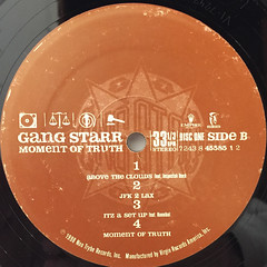 GANGSTARR:A MOMENT OF TRUTH(LABEL SIDE-B)