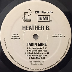 HEATHER B.:TAKIN MINE(LABEL SIDE-A)