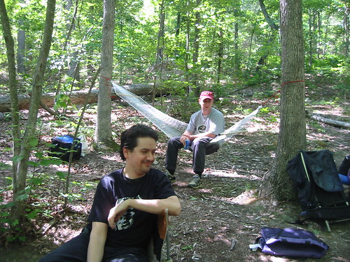 20060610 - First camping of the season - 101-0146 - Dan & Clint chilling | by Clio CJS