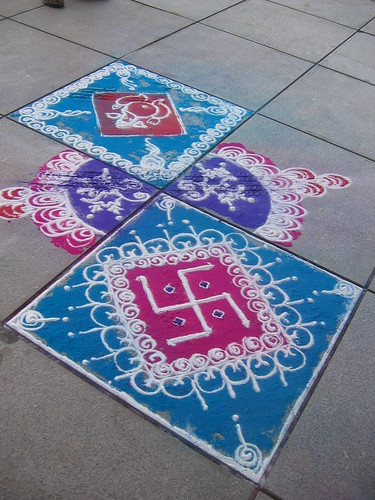 Rangoli floor designs rangoli floor decoration indian for Floor rangoli design
