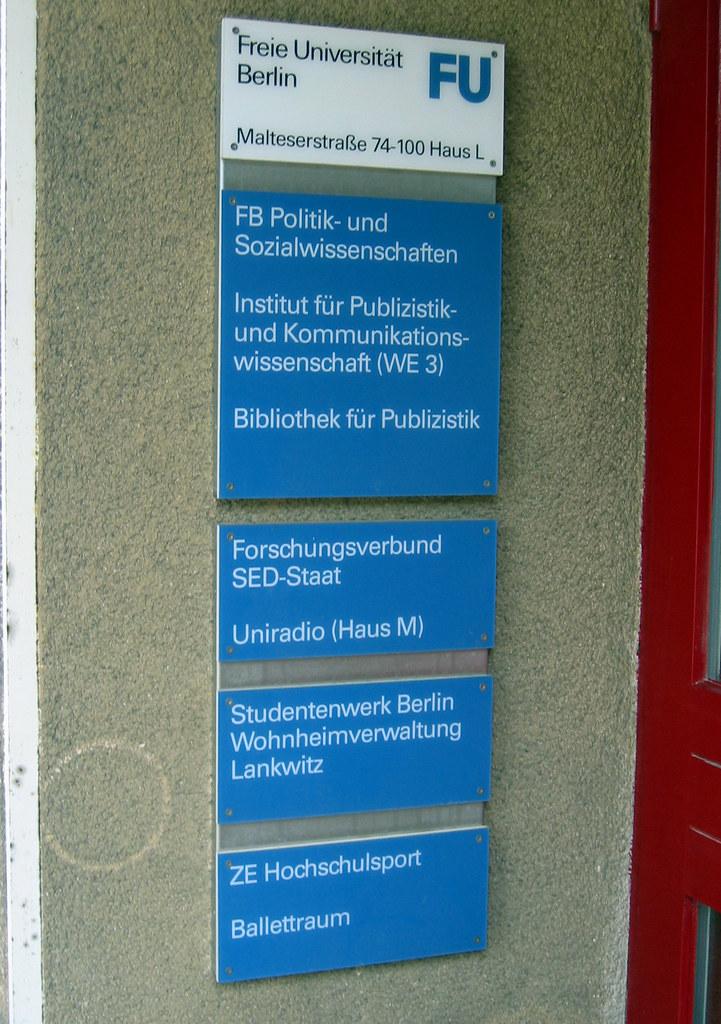 freie uni berlin institut f r publizistik sarah flickr. Black Bedroom Furniture Sets. Home Design Ideas