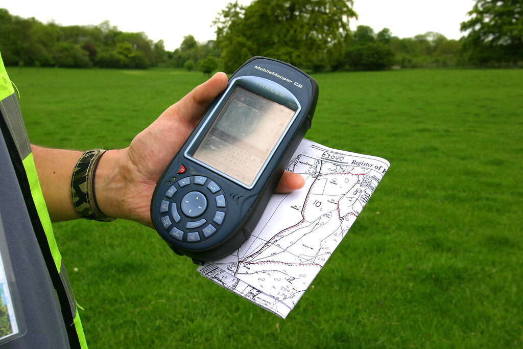 Gps 1 A Hand Held Gps Saves A Lot Of Time When Surveying