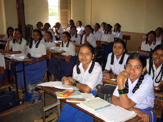 India High School Girls Class  Mae  Flickr-8872