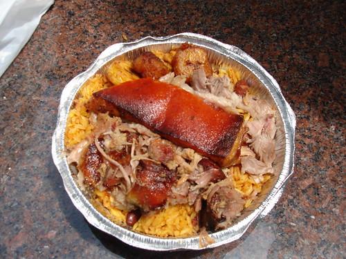 Roast Pork, Rice & Plantains @ Cafe Cello, NYC Midtown