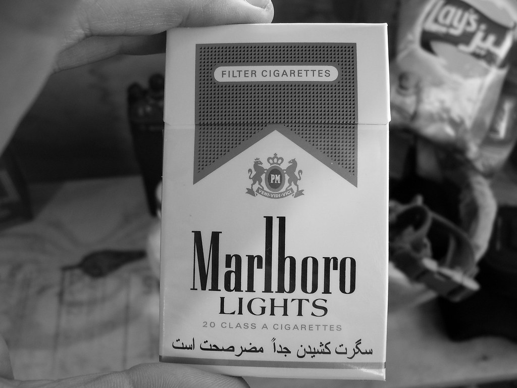Marlboro Lights cigarettes, flip-top box - in Afghanistan ...