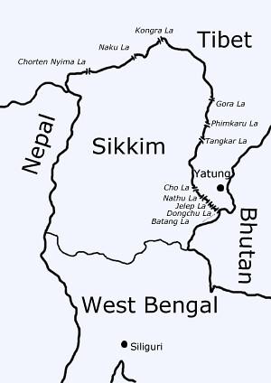 Tibet_sikkim_map Nathu La Pass Www Tagzania Com Paste