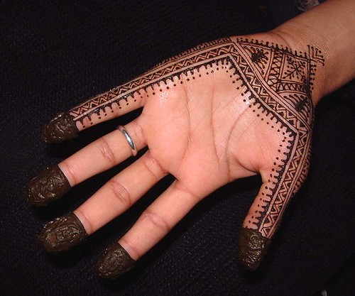 Moroccan Mehndi Patterns : Moroccan henna design for a brooklyn singer