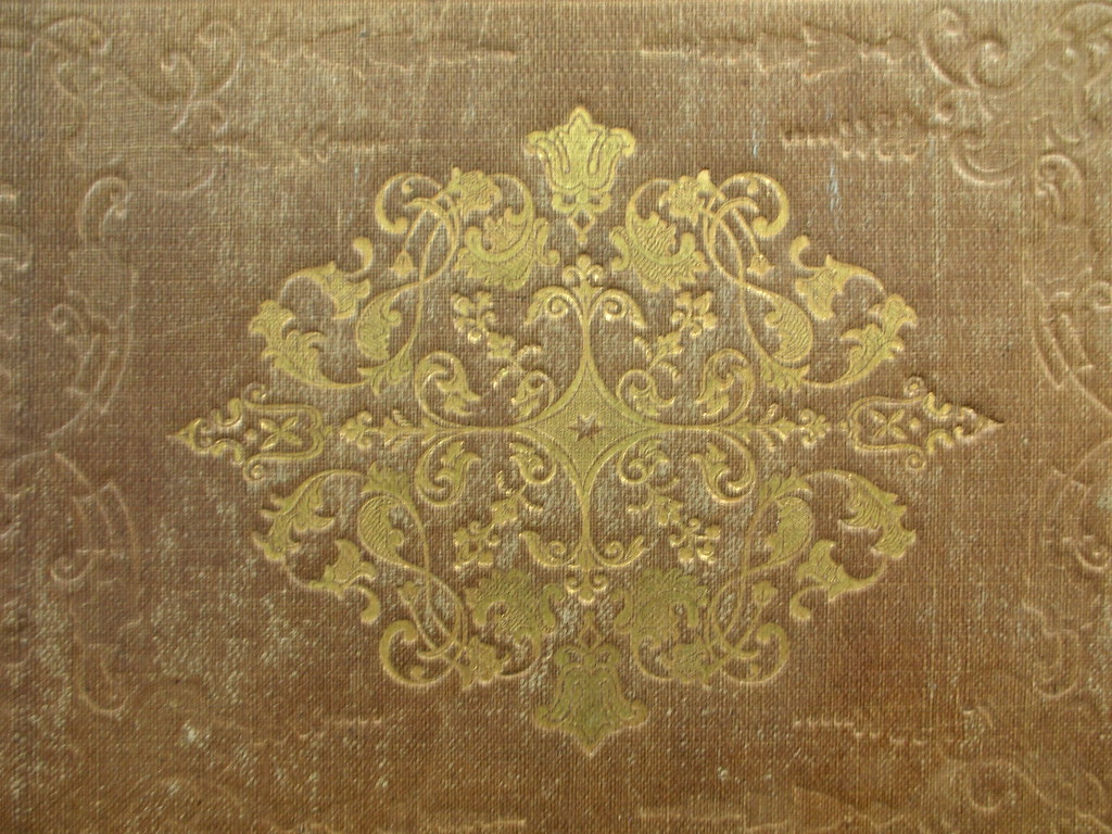 Old English Book Cover ~ Detail of an old book cover knapsack flickr