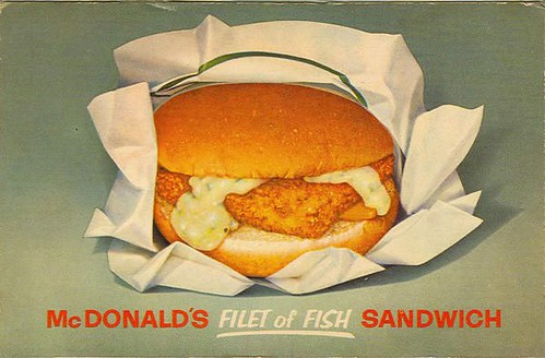 Mcdonald 39 s filet of fish postcard c 1960s scott flickr for Mcdonalds fish fillet