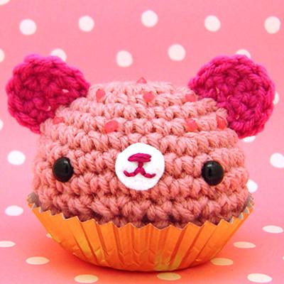 Kawaii Amigurumi Cupcake Keychain : Amigurumi Pink cupcake bear www.amigurumikingdom.etsy ...
