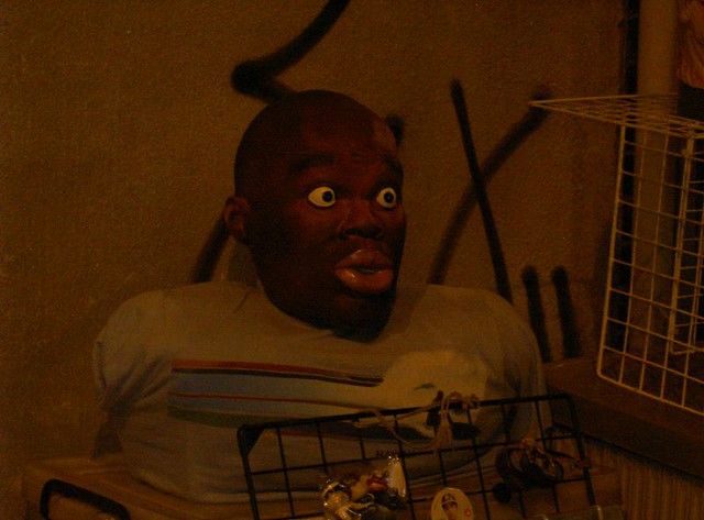 surprisedfrightened black man mask nothing was more