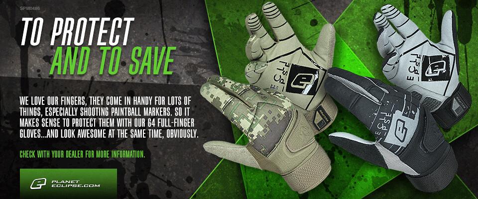 Eclipse G4 Full Finger Gloves - Love Your Fingers!