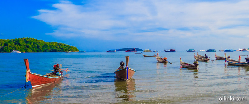 Boats at Ao Por, Phuket, Thailand