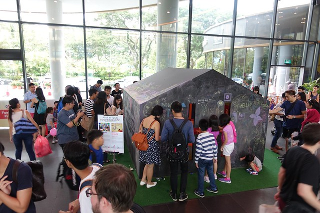 H for House, by PHUNK. An interactive art installation for Arts in Your Neighbourhood, Toa Payoh SAFRA.