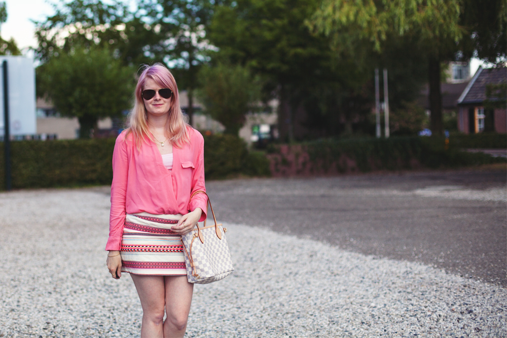 Outfit | Pink & Stripe | foreverpetite.net