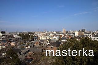 松阪城からの景色