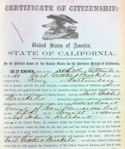 1854-Brekle-Naturalization-Papers