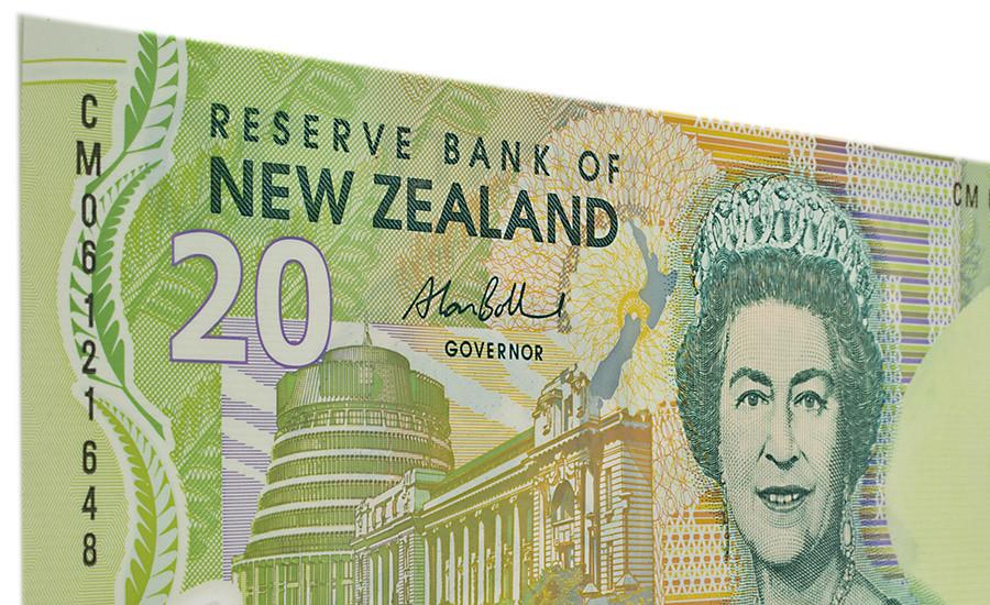 Neuseeländische Banknote mit Silver Fern