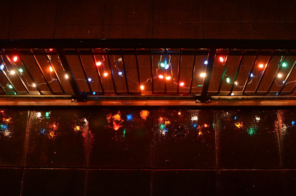 Railing Christmas Lights And A Very Wet Patio Tom