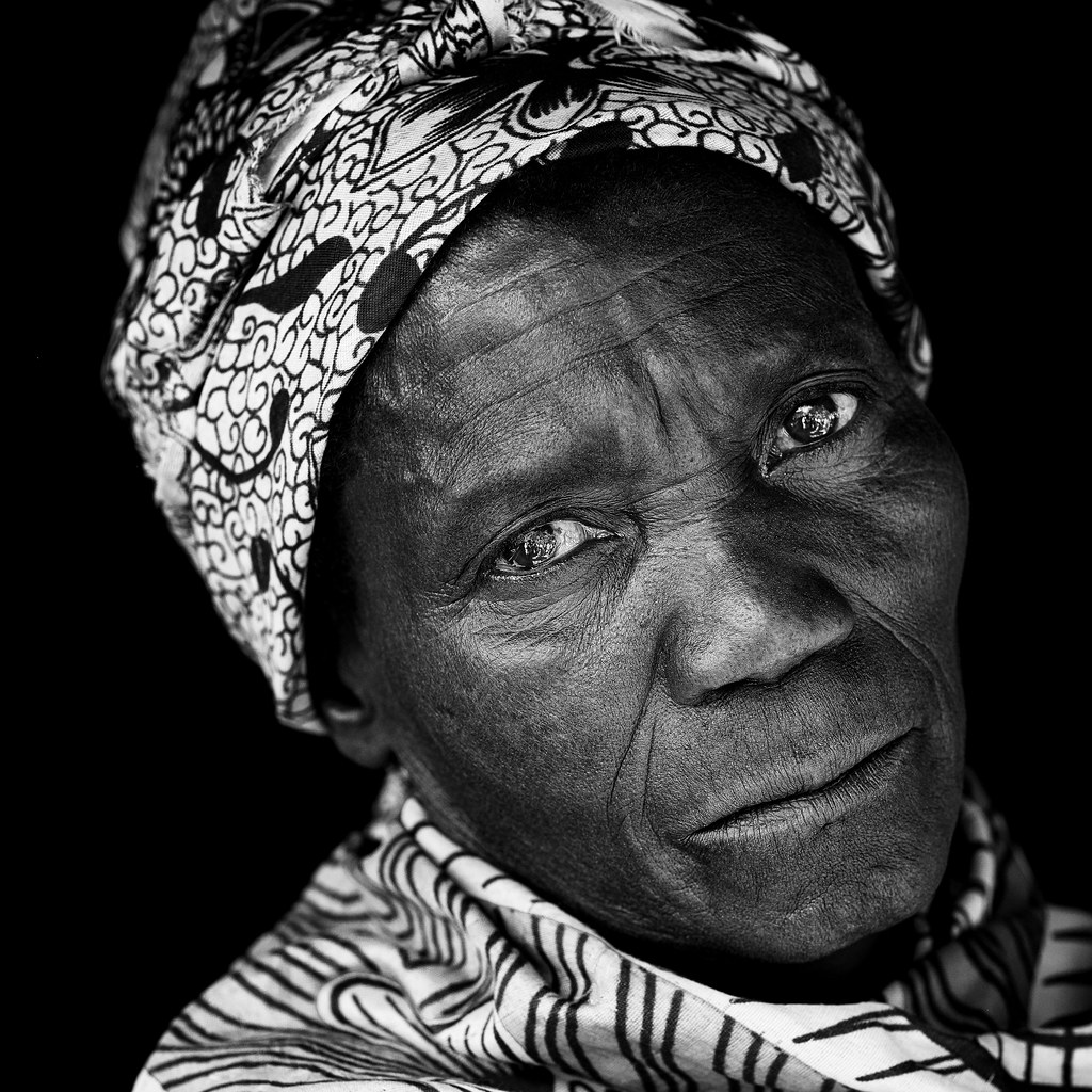 malawi old chewa woman black and white portrait of an old flickr. Black Bedroom Furniture Sets. Home Design Ideas