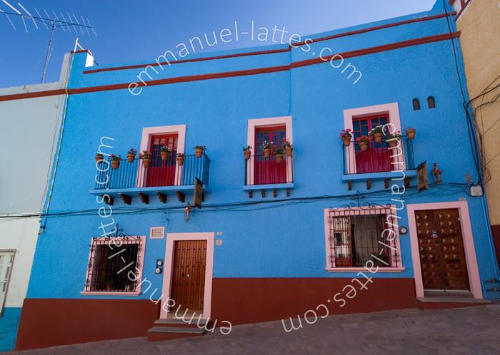 maison bleue guanajuato guanajuato mexique maison bl flickr. Black Bedroom Furniture Sets. Home Design Ideas