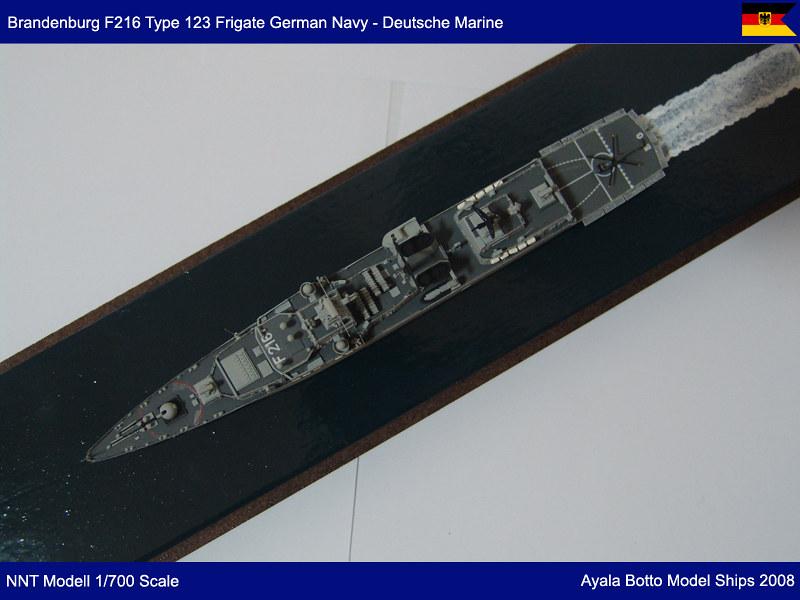 Frégate FGS Brandenburg F215 Type F123 Marine Allemande, NNT Modell 1/700 23728615895_4ebc39a43f_c
