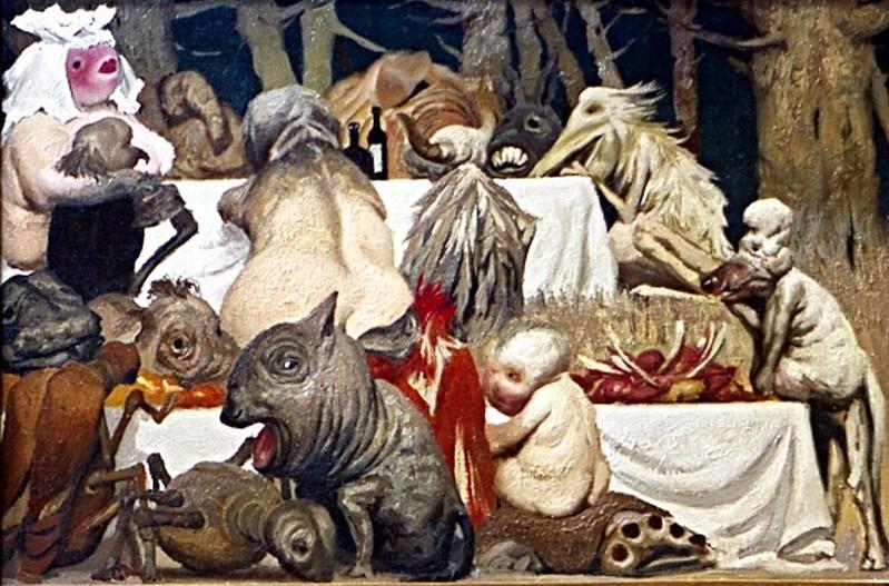 Geli Korzhev - Feast, 1988