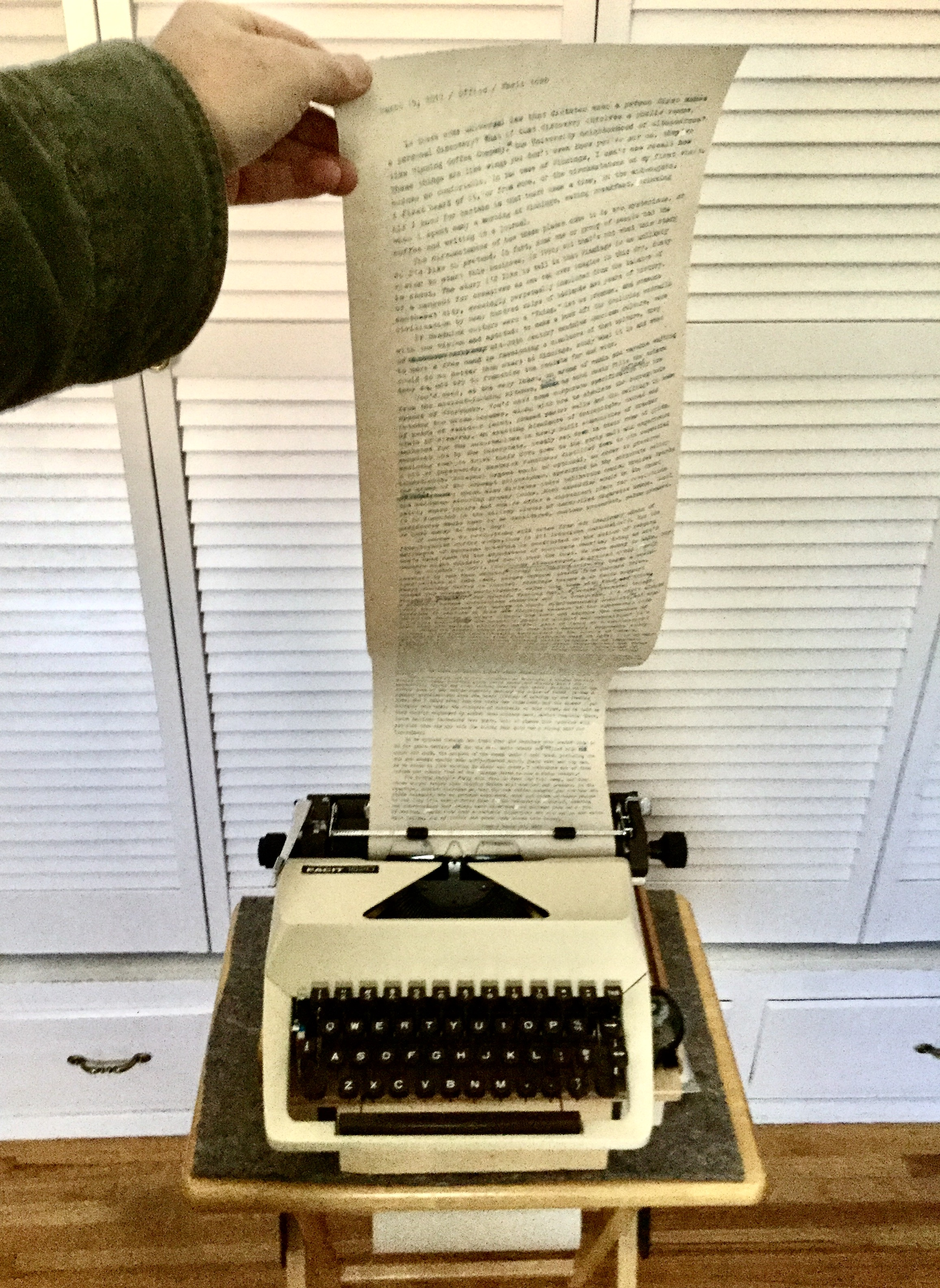 'Personal Discoveries' Rough Draft, Facit 1620 and Teletype Roll
