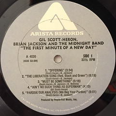 GIL SCOTT-HERON,BRIAN JACKSON AND THE MIDNIGHT BAND:THE FIRST MINUTE OF A NEW DAY(LABEL SIDE-A)