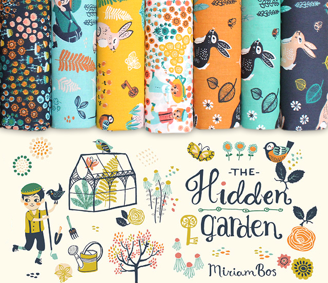 Birch Fabrics The Hidden Garden Collection by Miriam Bos