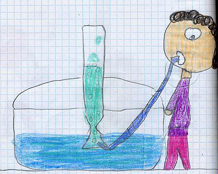 disegno 20 soffiare aria nella bott d'acqua