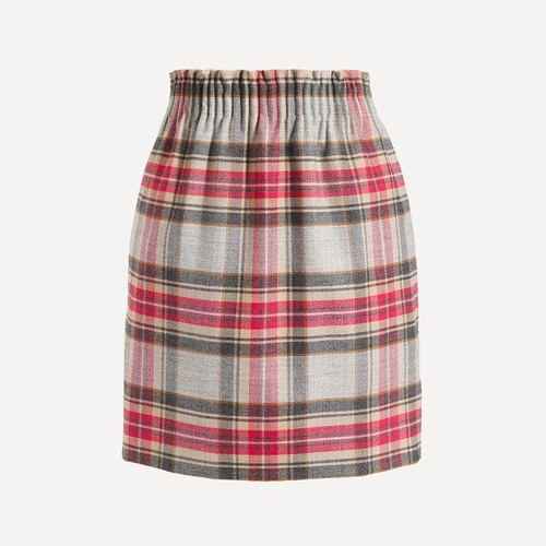 J Crew Plaid Mini Skirt