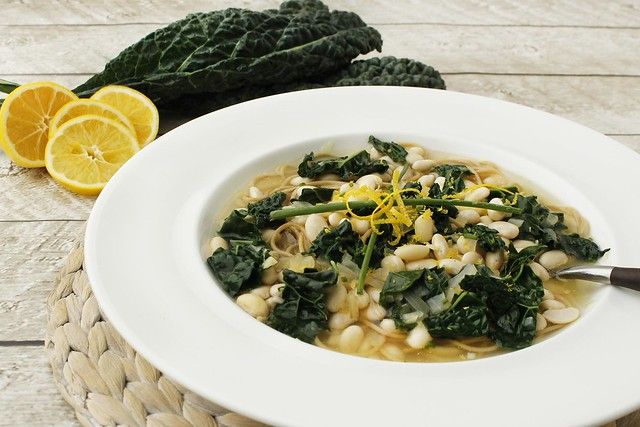 lemon-soup-with-pasta-white-bean-and-kale