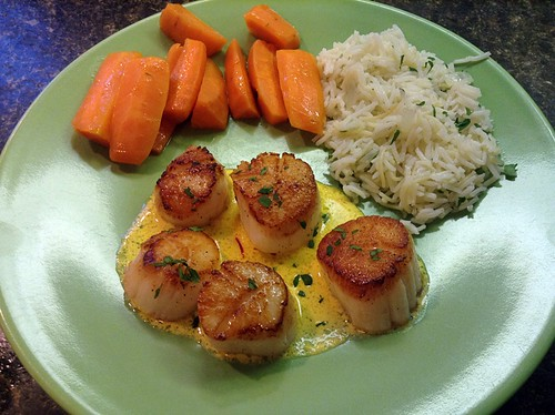Seared scallops for retirement