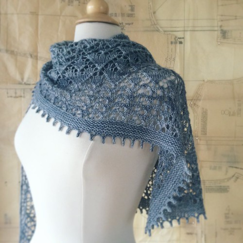 Golden Valley Shawl, by Bonnie Sennott