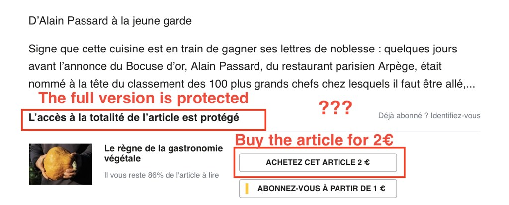 Le Monde asking for money