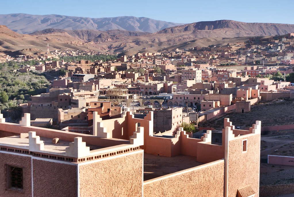 Vue sur la vallée de Tinghir dans le sud du Maroc.