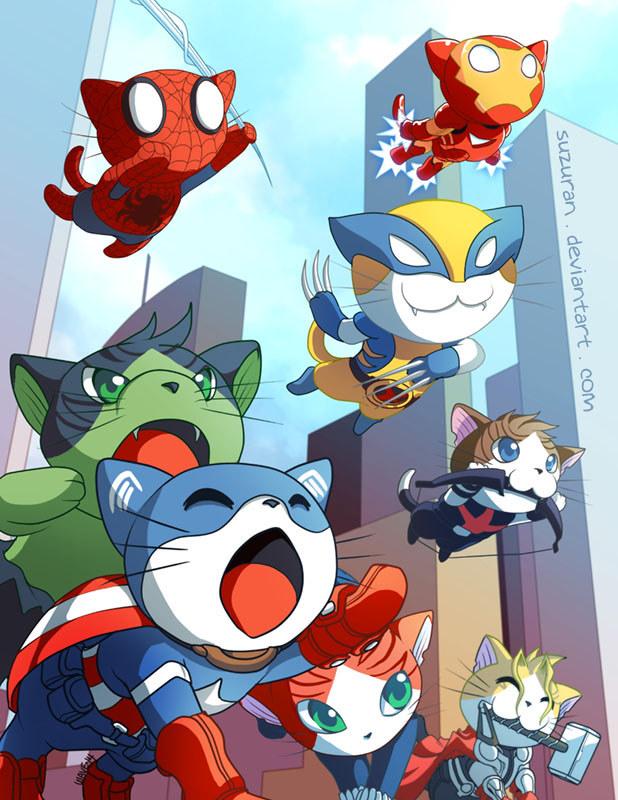 Meowvel's Avengers Assemble by suzuran