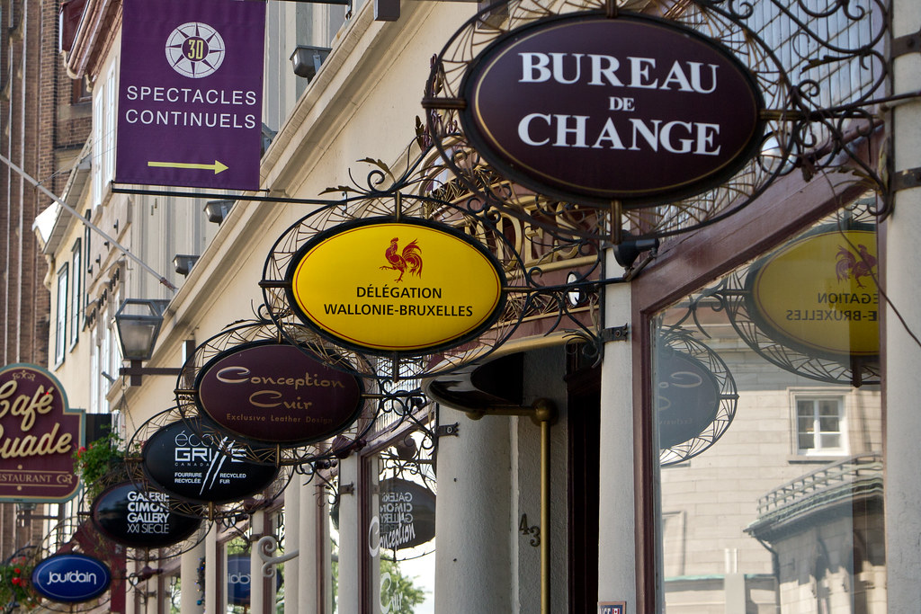 Signs quebec city canada oly oly oly flickr